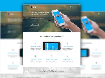 iPhone App Landing Page (Free Download)