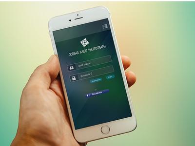 iPhone App Login Page Design ( Free PSD )