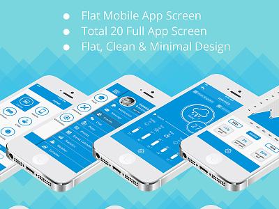 Flat iOS App UI Kit ui ui kit app ui app ui kit free app psd mobile app ios
