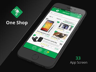 Shop & Social iOS App UI Kit ios app ios design ios flat design shop app shop blue app mobile psd psd template mobile ui design app design mobile app
