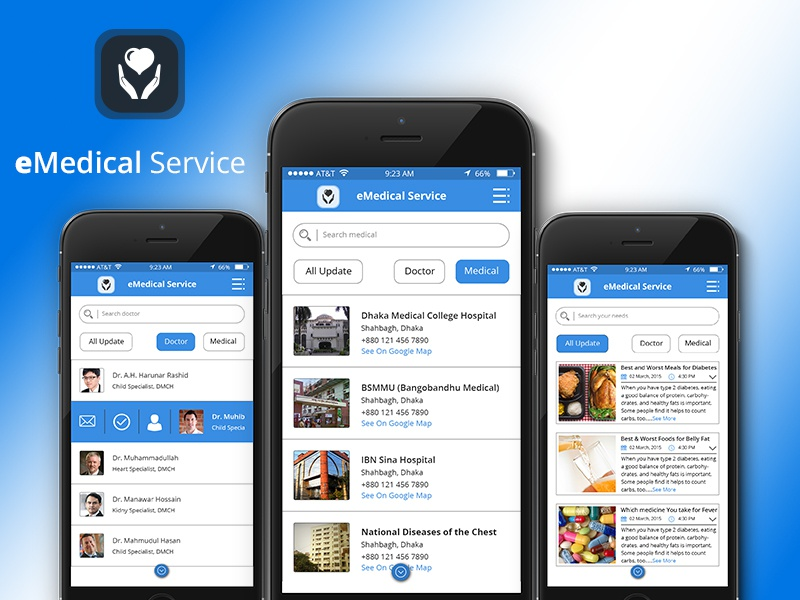 Medical - Mobile App UI Kit by Tahmid Hasan - Dribbble
