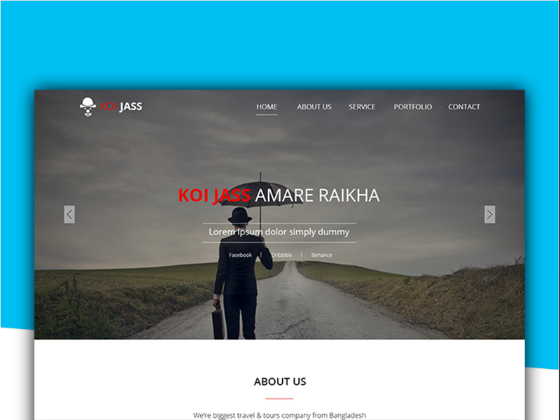 KOI JASS One Page PSD Template ( Free Download ) by Tahmid Hasan on