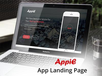 AppiE - App Landing Page UI Template app landing page design app landing page landing page design landing page ui design ux design ui