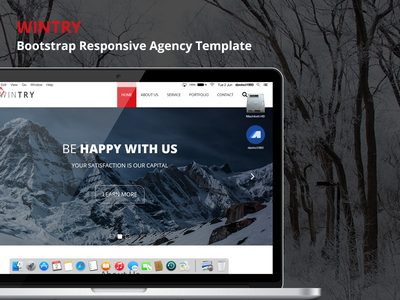 WINTRY - Bootstrap Responsive Agency Template ( Free PSD ) agency responsive ui design onepage