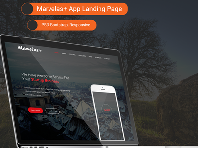 Marvelas+ Bootstrap App Landing Page php ajax css html ui template responsive bootstrap app landing page