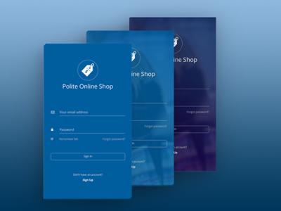 Polite Online Shop iOS App UI Kit (WIP)