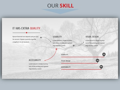 Our Skill Section Design