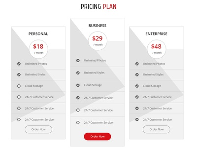 Pricing Table Design For AppiE app landing page landing page ui kit mobile userinterface app ios