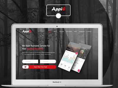 AppiE App Landing Page (Re-Design) uiux design ui ux web design web ui template web ui web ux ux design ui design