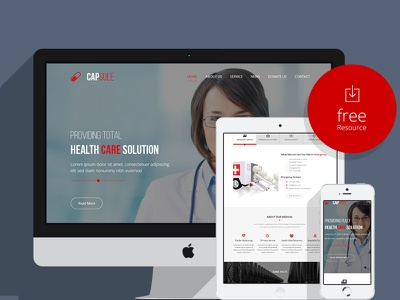 CAPSULE - One Page Responsive Medical Template ui ux css3 bootstrap medical template bootstrap template medical template responsive medical template html5 template one page template ui design uiux design