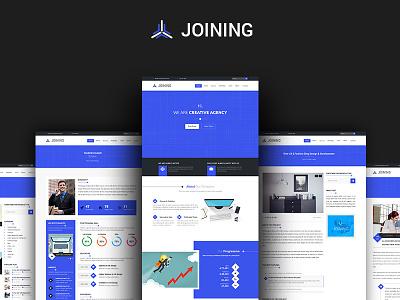 JOINING - Multipages Agency Template css3 html5 bootstrap agency website design web design website web ux design ui design ui ux