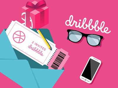 2 Dribbble Invitation Available invitation invite dribbble invite