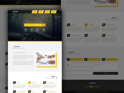 JustWait - Coming Soon Template ui design ux design landing page web design web ui ux ui coming soon css html psd