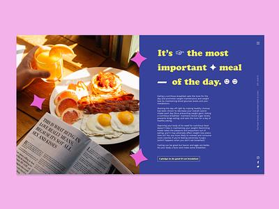 Super Society of Breakfast Eaters Website UI webdesign food website breakfast ui ux typography graphic design design