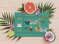 Beachgoers Delight Tiki Bar Menu illustration logo menu design tikimenu tikibar menu branding typography graphic design design