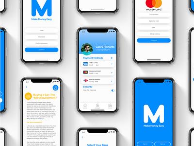 Munz App investment interaction typography budget finance finance app ui  ux graphic design app design app