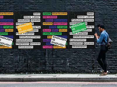 Enough is Enough Campaign eco-friendly campaign design branding enviroment poster design typograhy design