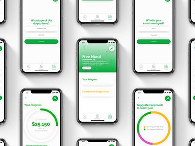 Munz App - Invest finance app finance ui logo design app design app branding