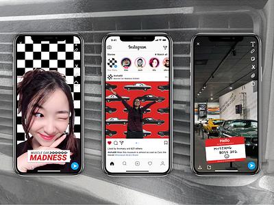 Muscle Car Madness - Social Media instagram app social media museum exhibit design exhibition typography graphic design design
