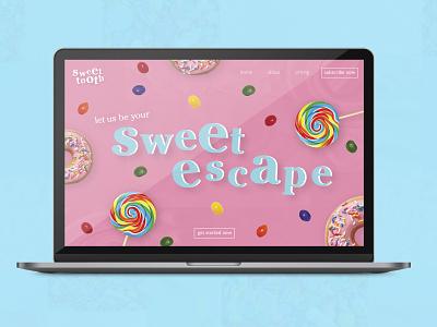 Sweet Tooth Website website design typography webdesign ux  ui branding website ui design graphic design