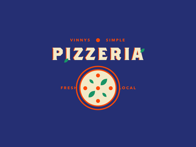 PIZZERIA 🍕🍕🍕🍕 pizzeria playoff vinnys stickermule branding logo vector pizza
