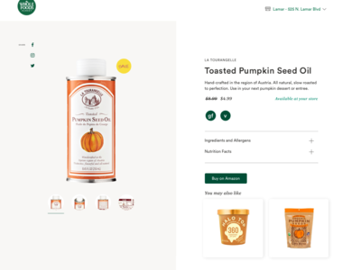 Product Info at Whole Foods