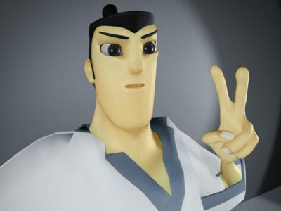 Blender project - Samurai Jack Avatar #1 samurai jack rig sculpt 3d avatar blender
