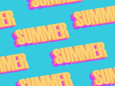 Summer. | Typography