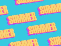 Summer. | Typography