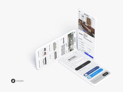 EUROOO clean product landing page platform design e commerce furniture furniture app mobile design ux ui design ui