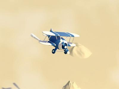 Toy plane airplane plane toy render illustraion 3d art low poly lowpoly motiongraphics motion design design cinema4d c4d 3d animation 3d