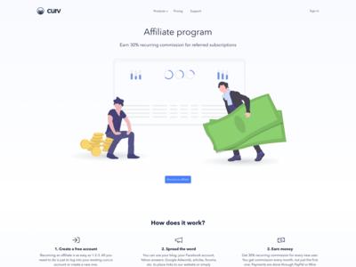 curv.io - Affiliate program page