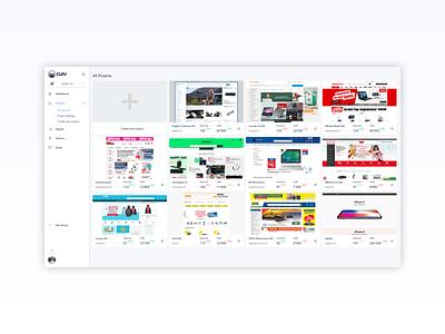 app.curv.io - Projects menu design menu bar menu charts metrics clean design flat  design web app design web app app saas