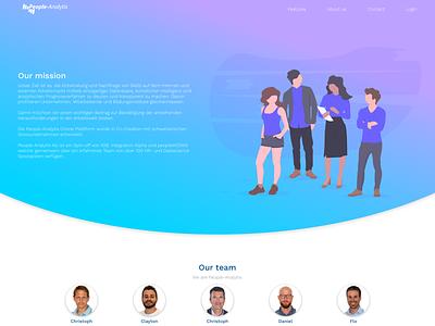 people-analytix.com - About us team gradient background gradient design gradient color gradient vector clean design design hr software hr illustration web app saas app