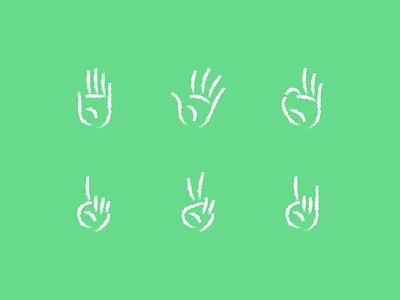 hands line chalk vector illustrator illustration icons