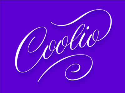 coolio illustrator vector roundhand script hand lettering lettering