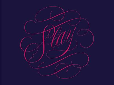 slay cartouche flourish illustrator vector script lettering