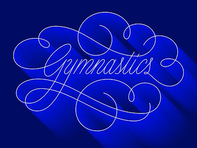 gymnastics vector monoweight script lettering