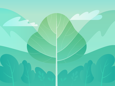 Level Up vector illustration tree