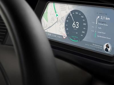 Automotive UI graph embedded tesla concept ui automotive car
