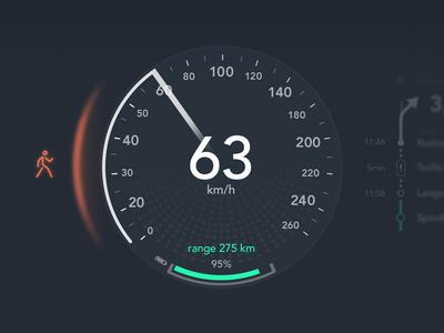Automotive UI circle concept car automotive graph ui