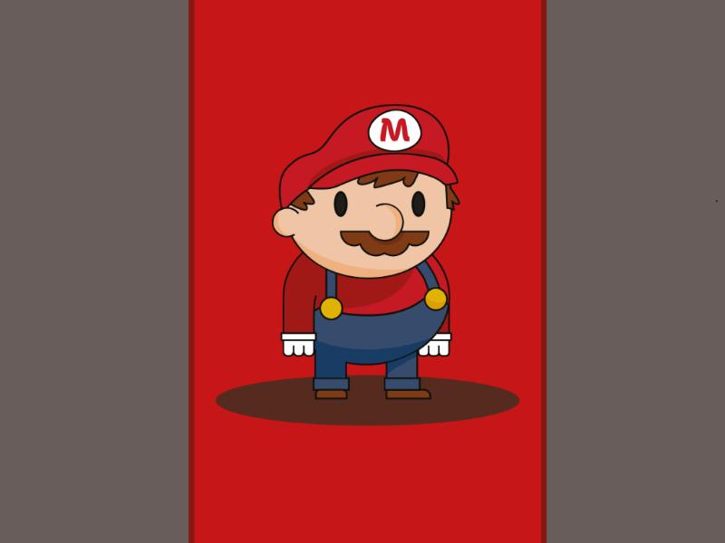 Mario 8bit nintendods art adobe sketch illustration gaming luigi nintendo mario