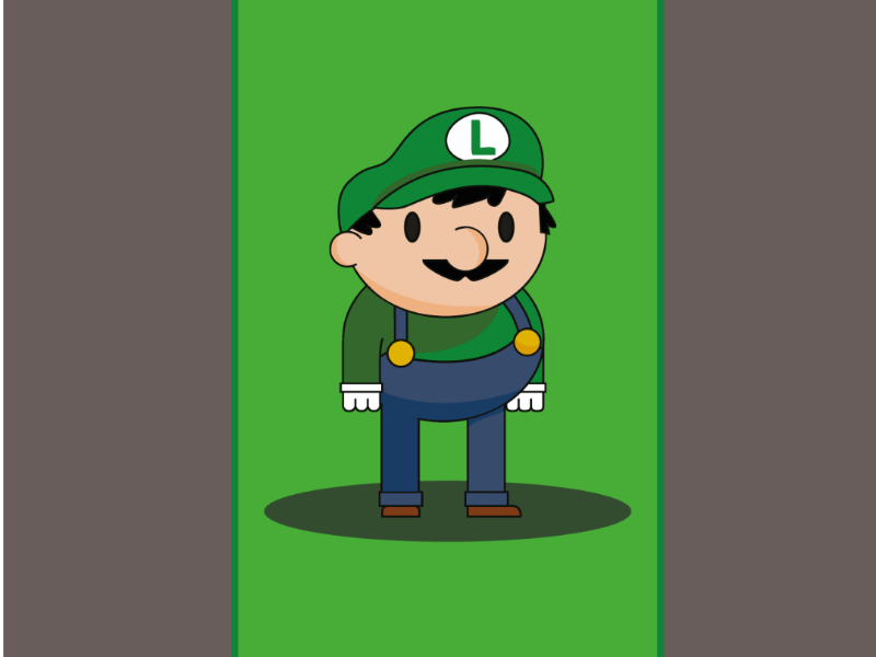Luigi 8bit nintendods art adobe sketch illustration gaming luigi nintendo mario