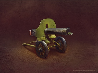 Russian 1910 maxim machine gun (2x) icon game icon icon designer gun weapon item concept art game item brainchild.pl brainchild rafał urbański rafal urbanski