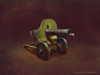 Russian 1910 maxim machine gun (2x)