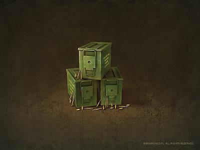 Ammo box (2x) icon game icon icon designer ammo weapon item concept art game item brainchild.pl brainchild rafał urbański rafal urbanski