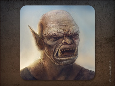Game icon rafal urbanski rafał urbański brainchild brainchild.pl game item concept art ios icon ios orc icon designer game icon icon