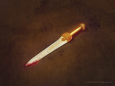 Short Sword (2x) rafal urbanski rafał urbański brainchild brainchild.pl game item concept art ios icon ios sword icon designer game icon icon