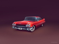 Red cadillac (2x)