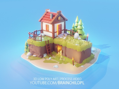 [Youtube Video] Low Poly Cube World - Blender 2.8 | 3d Art youtube cartoon stylised 3d lowpoly low poly 3d low poly game design game art blender3d blender 3d modeling 3d sculpting 3d artist